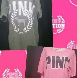 2 VS Pink T-shirts, L